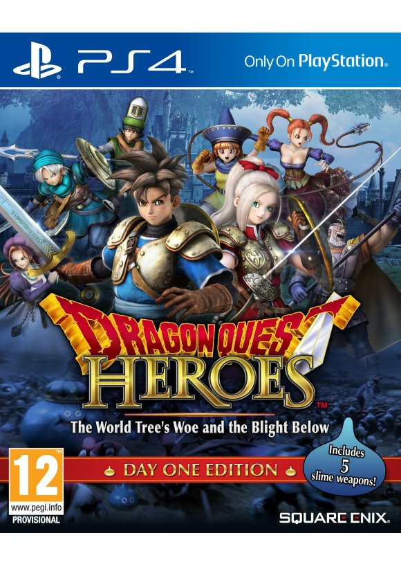 caratula Dragon Quest Heroes ps4