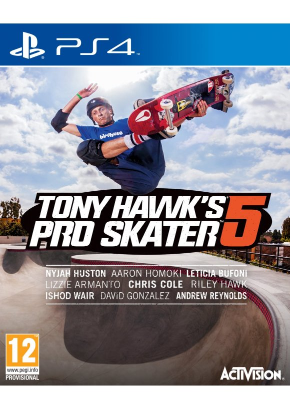 caratula Tony Hawk's Pro Skater 5 ps4