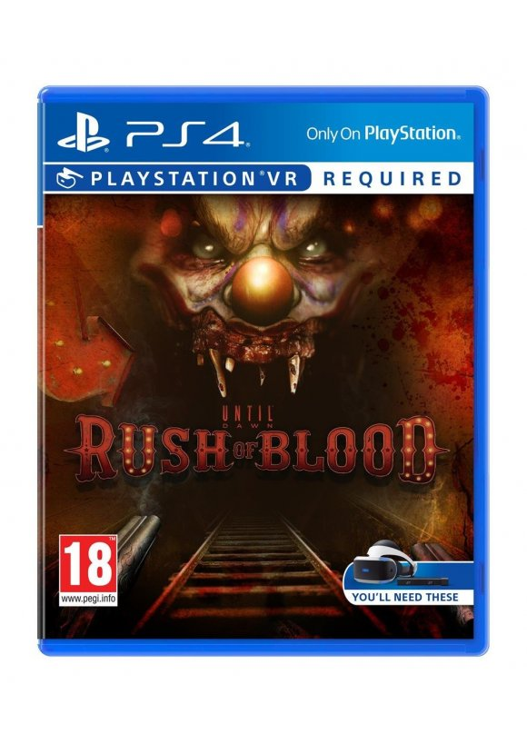 caratula Until Dawn: Rush Of Blood ps4
