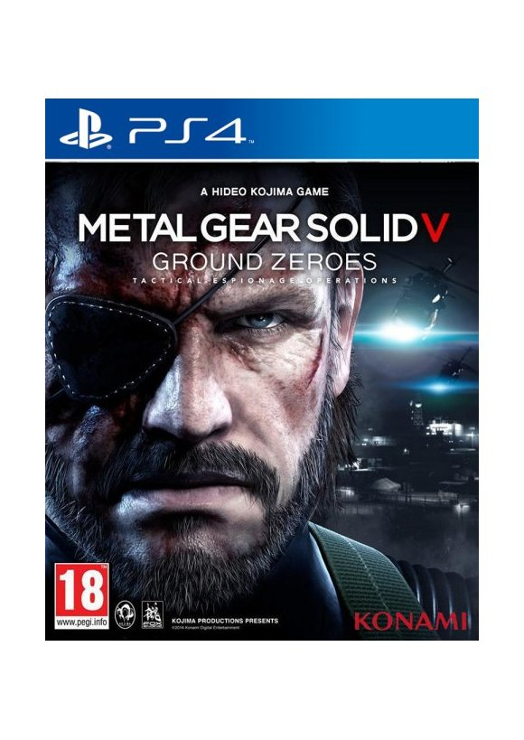 caratula Metal Gear Solid V Ground Zeroes ps4